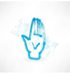 human palm grunge icon vector image