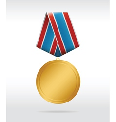 medal round vector image