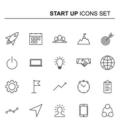 startup and business line icons set design vector image