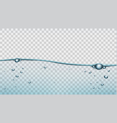 transparent blue water clear background template vector image