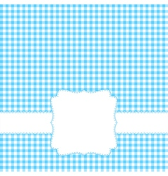 Blank blue card vector image