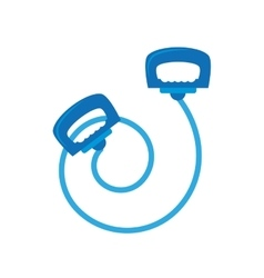 blue jump rope le sport vector image