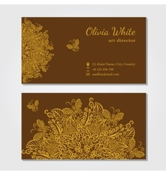 business card Brown background vector image vector image