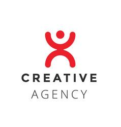 creative agency logo design concept vector image