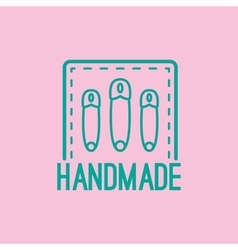 Handmade colorful logo design with pins vector image vector image