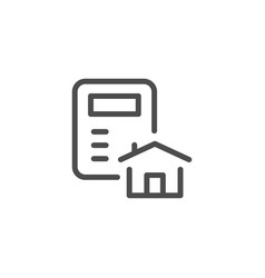 house calculation line icon vector image
