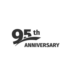 Isolated abstract black 95th anniversary logo on vector image