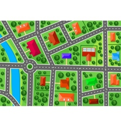 Map of suburb vector image vector image
