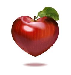 print apple heart vector image