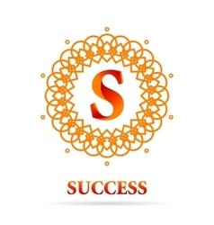 S letter monogram logo abstract design vector