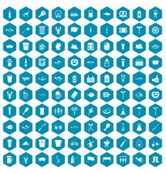 100 beer icons sapphirine violet vector
