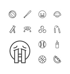 13 ball icons vector