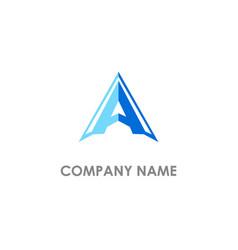 a initial triangle company logo vector image