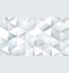 abstract white polygonal triangle geometric 3d vector image