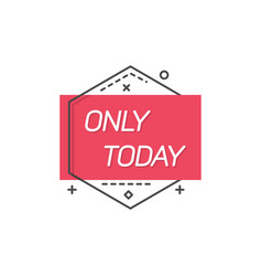 Advertising label with one day sale vector