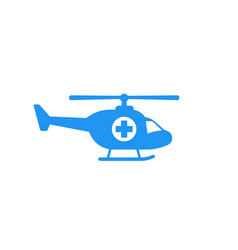 air ambulance medical helicopter icon vector image
