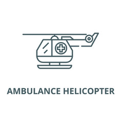 ambulance helicopter line icon ambulance vector image
