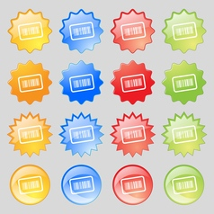 Barcode icon sign Big set of 16 colorful modern vector image