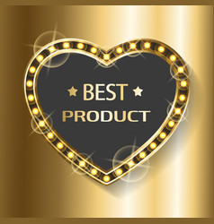 Best product heart shape billboard with glittering vector