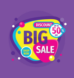 big sale discount up to 50 percent off vector image