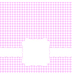 Blank pink card vector