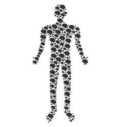 brain person figure vector image