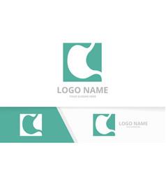 Business stomach care logo design concept premium vector