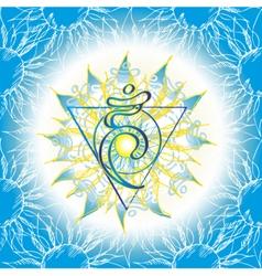 Chakra Vishuddha icon vector