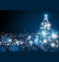 christmas tree design at night vector image