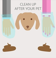 clean up after your pet vector image
