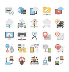 Communication colored icons vector