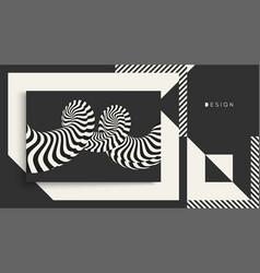 cover design template pattern black white design vector image