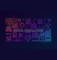 data analysis colorful modern banner vector image