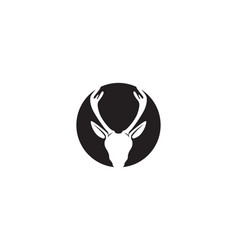 deer head logo black vector image