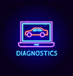 Diagnostics neon label vector