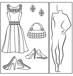 Different female accessories vector