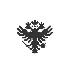 double eagle logo russian eagle logo vector image
