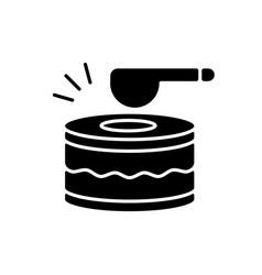 Drums black glyph icon vector
