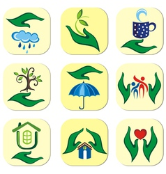 Ecological symbols vector image