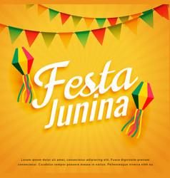 Elegant festa junina poster holiday greeting vector