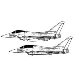Eurofighter typhoon vector