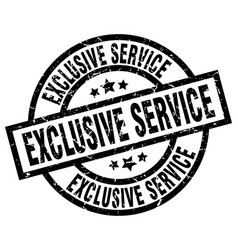 Exclusive service round grunge black stamp vector