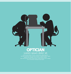 Eye examination black symbol vector