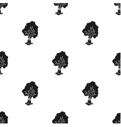 Falling tree icon in black style isolated on white vector