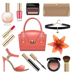 Fashion accessories set 9 vector