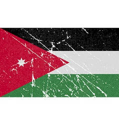 Flag of Jordan with old texture vector image