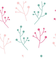 Floral simple seamless pattern vector
