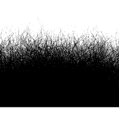 Fur hair grass gradient in black over over white vector