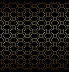 geometric golden and black linear seamless simple vector image