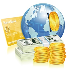 Global Financial Concept vector image